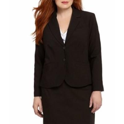 カルバンクライン レディース ジャケット・ブルゾン アウター Plus 2-Button Suit Jacket Black