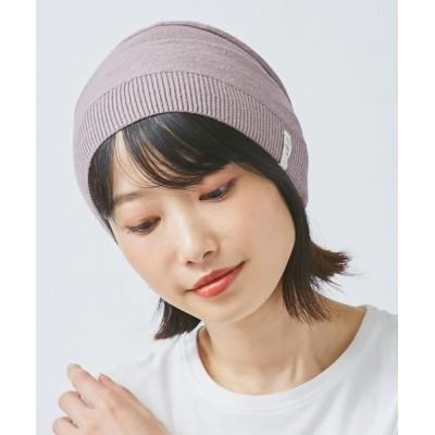 OVERRIDE / オーガニックコットン 京の草木染 ニット帽子 WOMEN 帽子 > ニットキャップ/ビーニー