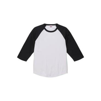 [ユナイテッド アスレ] 5.6ozラグラン3/4スリーブTシャツ メンズ 504501 ホワイト/ブラック 日本 L (日本サイズL相当)