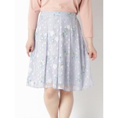 【大きいサイズ】花柄プリントスカート 大きいサイズ スカート レディース