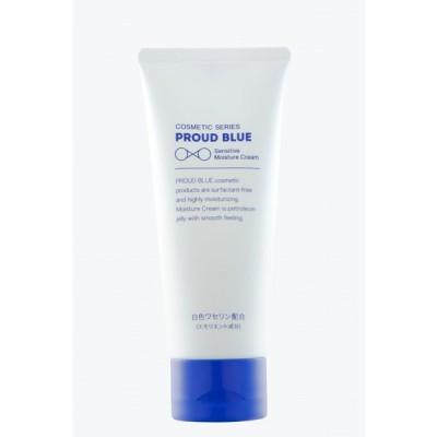 PROUD BLUE センシティブモイスチュアクリーム 100g【顔・身体用クリーム】低刺激, 無着色、無香料、エタノール・防腐剤・界面活性剤不使用