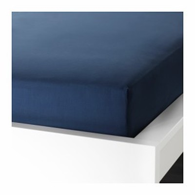 IKEA イケア ボックスシーツ カバー ダークブルー 青 シングル d40342775 ULLVIDE