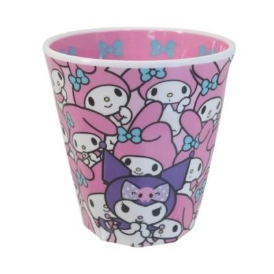 メラミンカップ Wプリント メラミンカップ マイメロディ ぎゅうぎゅう サンリオ ティーズファクトリー プレゼント 子ども キッズ 女の子向け キャラクター