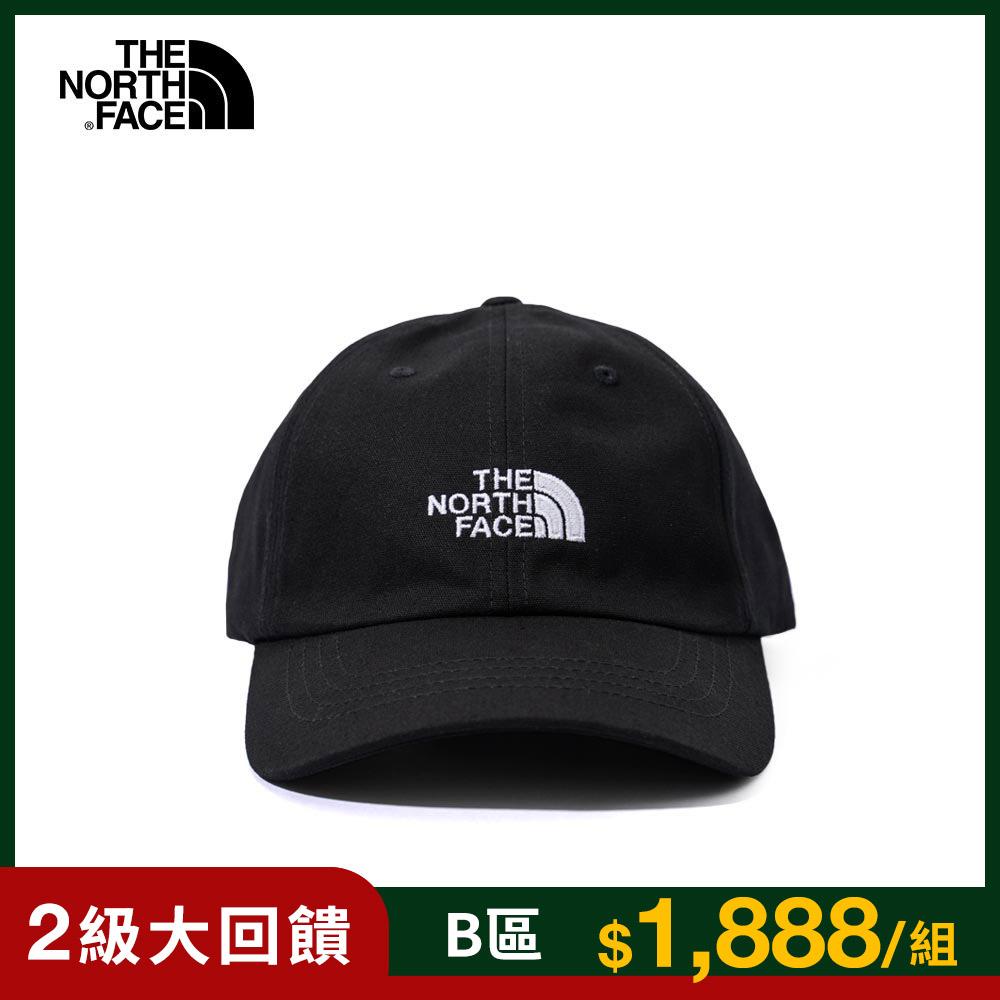 The North Face北面男女款黑色防曬透氣運動帽 3SH3JK3