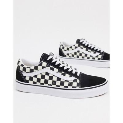 バンズ メンズ スニーカー シューズ Vans Old Skool Primary Check sneakers in black