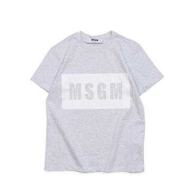 MSGM エムエスジーエム Tシャツ 半袖 レディース BOX LOGO T-SHIRTS グレー MDM95 94