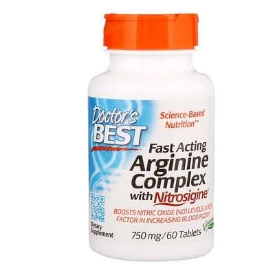 速効型アルギニン・コンプレックス、ニトロジジン、750mg、60錠