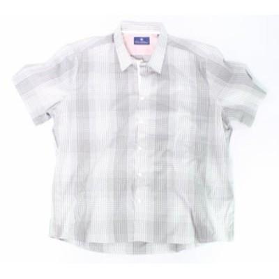 Plaid  ファッション アウター Ryan Seacrest Distinction NEW Gray Men Size 2XL Plaid Button Down Shirt