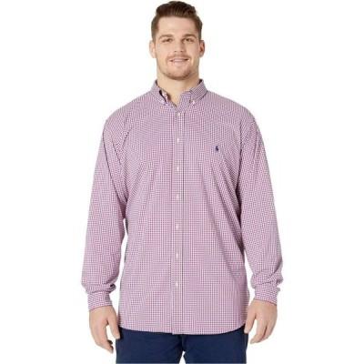 ラルフ ローレン Polo Ralph Lauren Big & Tall メンズ シャツ 大きいサイズ Big & Tall Long Sleeve Performance Woven Shirt Raspberry/White