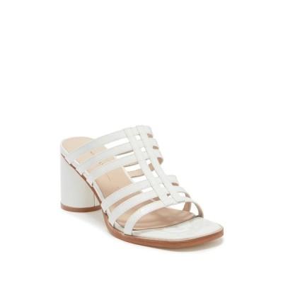 インテンショナリーブランク レディース サンダル シューズ Stamps Strappy Cylinder Heel Sandal WHITE