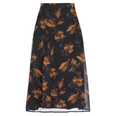 GESTUZ 7分丈スカート ブラック 34 ポリエステル 100% 7分丈スカート