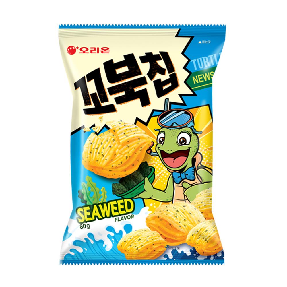 好麗友烏龜玉米脆片-海苔味