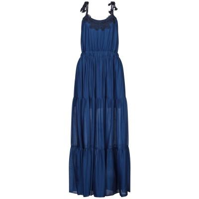 CRISTINAEFFE ロングワンピース&ドレス ダークブルー 40 レーヨン 70% / シルク 30% ロングワンピース&ドレス