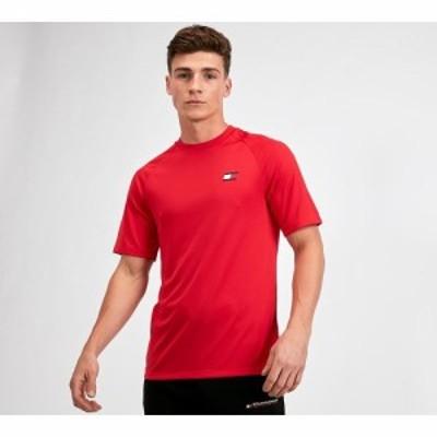 トミーヒルフィガー Tommy Sport メンズ Tシャツ トップス mesh back logo t-shirt True Red
