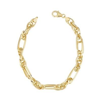 Kooljewelry 14k Yellow Gold Triple Link Bracelet (5.5mm, 7.25 inch)