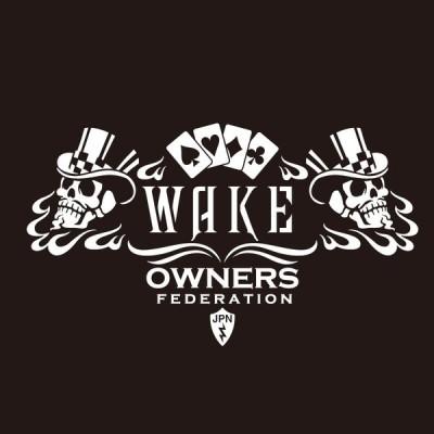 カッティングステッカー ダイハツ(DAIHATSU)WAKE ウェイク cardskull 車 カー ステッカー  アクセサリー シール ガラス オーダーメイド  転写[◆]
