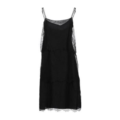 アレッサンドロデラクア ALESSANDRO DELL'ACQUA ミニワンピース&ドレス ブラック 38 ナイロン 65% / レーヨン 35%