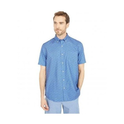 Southern Tide メンズ 男性用 ファッション ボタンシャツ Hooks Short Sleeve Dock Shirt - Ocean Channel