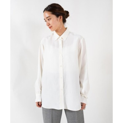 【DES PRES】シルキーポプリン レギュラーシャツ
