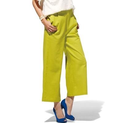 Ranan / 麻入りタックワイドパンツ WOMEN パンツ > スラックス