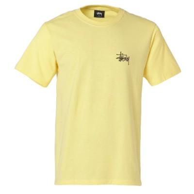 【即納】ステューシー Stussy メンズ Tシャツ トップス Basic Stussy Tee YELLOW 半袖 ロゴ クルーネック ベーシック