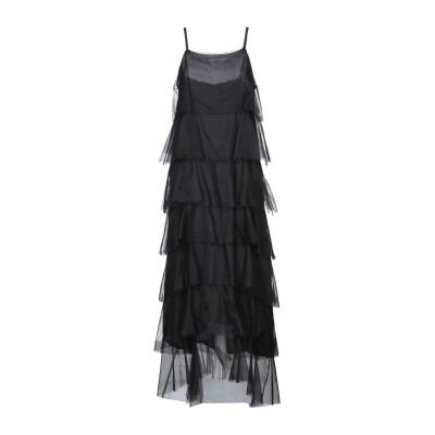 スーベニア SOUVENIR ロングワンピース&ドレス ブラック M ナイロン 100% ロングワンピース&ドレス