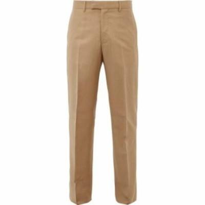 ボッテガ ヴェネタ Bottega Veneta メンズ スキニー・スリム ボトムス・パンツ Mohair-blend slim-fit trousers Camel