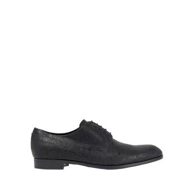 EMPORIO ARMANI レースアップシューズ ファッション  メンズファッション  メンズシューズ、紳士靴  その他メンズシューズ、紳士靴 ブラック