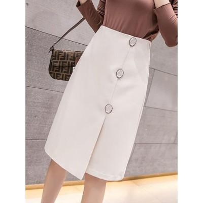 春夏スカート ミディアムスカート 腰を高 着やせ黒いロングスカートヒップを包む タイトスカート ロング 通勤 大人 上品高い弾力3colors - AQ6