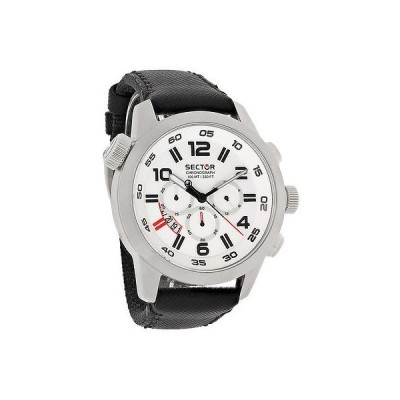 腕時計 セクター Sector Overサイズ メンズ ホワイト ダイヤル クォーツ クロノグラフ 腕時計 R3271702045