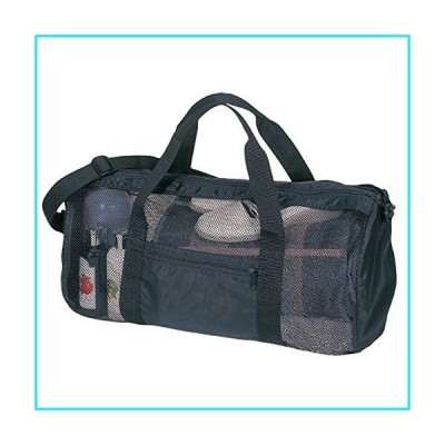 SDI 636391901048 Sport Gym Mesh Roll Bag, Black【並行輸入品】
