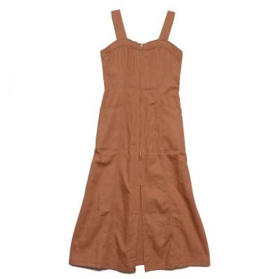スタイルブロック STYLEBLOCK カツラギジャンパースカート (キャメル)