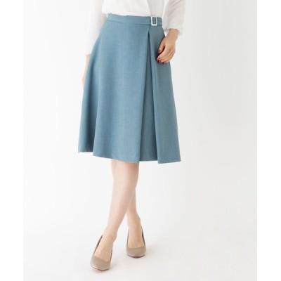 SOUP / 【大きいサイズあり・13号】タックフレアバックルスカート WOMEN スカート > スカート