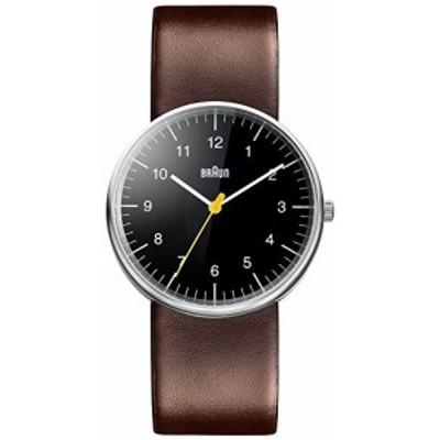 Braun BN0021BKBRG メンズ アナログ クラシック クォーツ腕時計 レザースト(中古品)