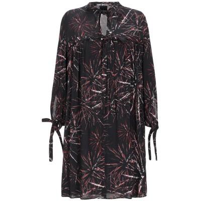 PINKO UNIQUENESS ミニワンピース&ドレス ブラック 40 レーヨン 97% / ポリウレタン 3% ミニワンピース&ドレス