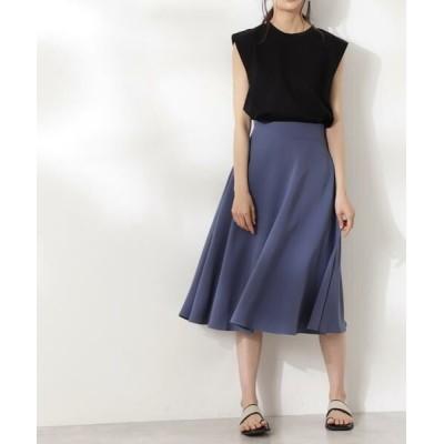 N.Natural Beauty Basic/エヌ ナチュラルビューティーベーシック スモーキーフレアスカートⅢ《S Size Line》 ブルー S