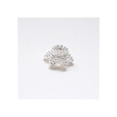 シルバー925 ビーズキャップ3個 座金 花座 パーツ シルバーパーツ04 メンズ レディース 銀 銀色 ハンドメイド 素材 天然石