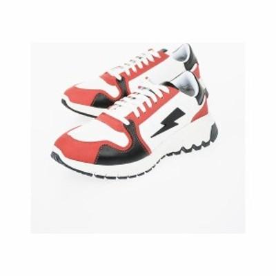 NEIL BARRETT/ニール バレット Multicolor メンズ Leather RETRO RUNNER Sneakers dk
