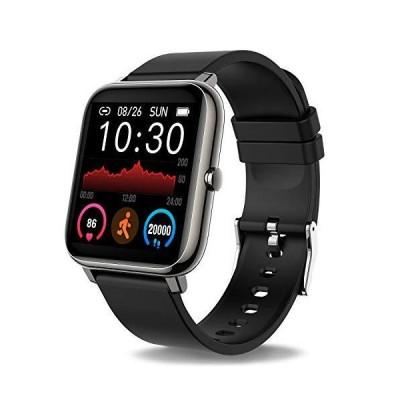 Donerton スマートウォッチ フィットネストラッカー 1.4 Android携帯電話用 心拍数と睡眠モニター付きフィットネストラッカー IP67