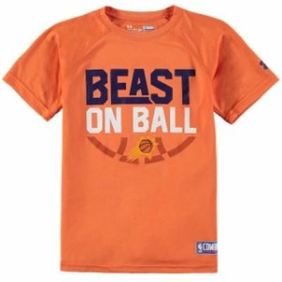Under Armour アンダー アーマー スポーツ用品  Under Armour Phoenix Suns Youth Orange Beast on Ball Tech Performance T-Shirt