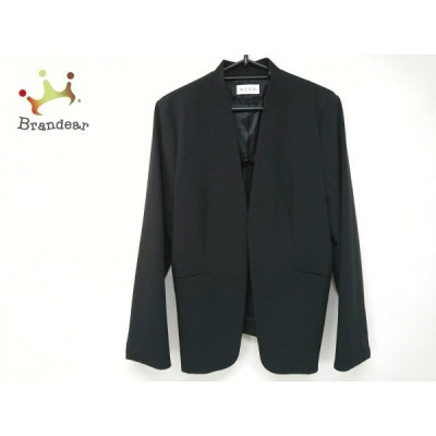 プラステ PLS+T(PLST) ジャケット サイズL レディース 美品 - 黒 長袖/秋/冬 新着 20201223