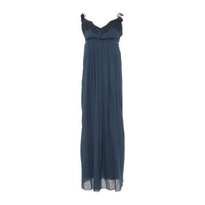 ドンダップ DONDUP 7分丈ワンピース・ドレス ダークブルー 42 コットン 100% 7分丈ワンピース・ドレス