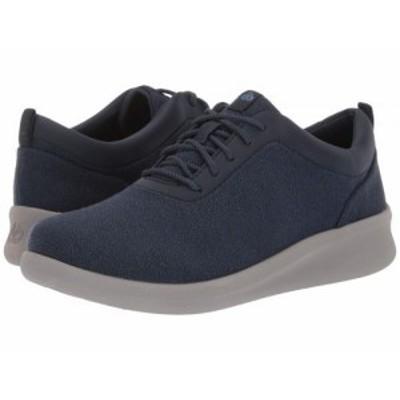 Clarks クラークス レディース 女性用 シューズ 靴 スニーカー 運動靴 Sillian 2.0 Pace Navy Textile【送料無料】
