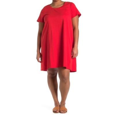 ボベー レディース ワンピース トップス Striped T-Shirt Dress RED