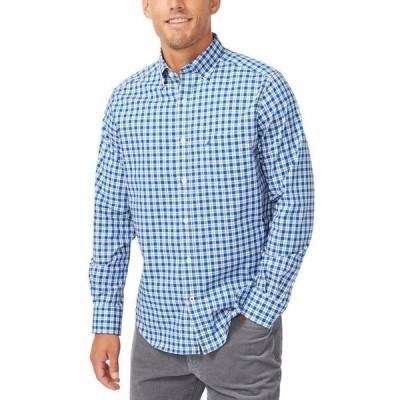 ナウティカ メンズ シャツ トップス Men's Gingham Stretch-Poplin Shirt