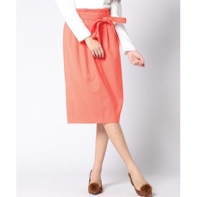 【ビッキー】 ★ウエストタックベルト付スカート レディース オレンジ S(1) VICKY