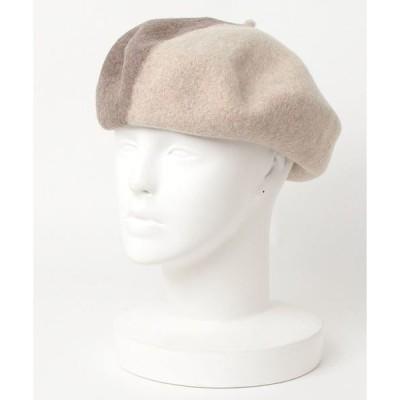 帽子 F&D : バイカラーウールベレー