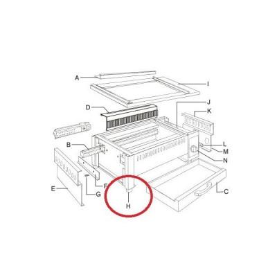 電気焼物器 EBM 炭火・NEW炭火用部品 全サイズ共通 万能焼物器用ゴム脚 EBM/業務用/新品