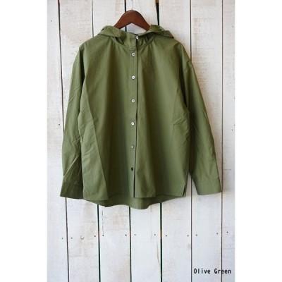 nachukara(ナチュカラ)コットンタイプライターフードシャツ【日本製 】▼SAL20%OFF