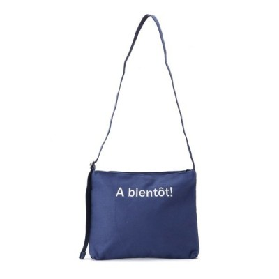 ショルダーバッグ バッグ キャンバスフレンチ ロゴ刺繍ショルダー